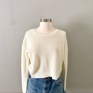 Forever 21 cropped open knit sweater
